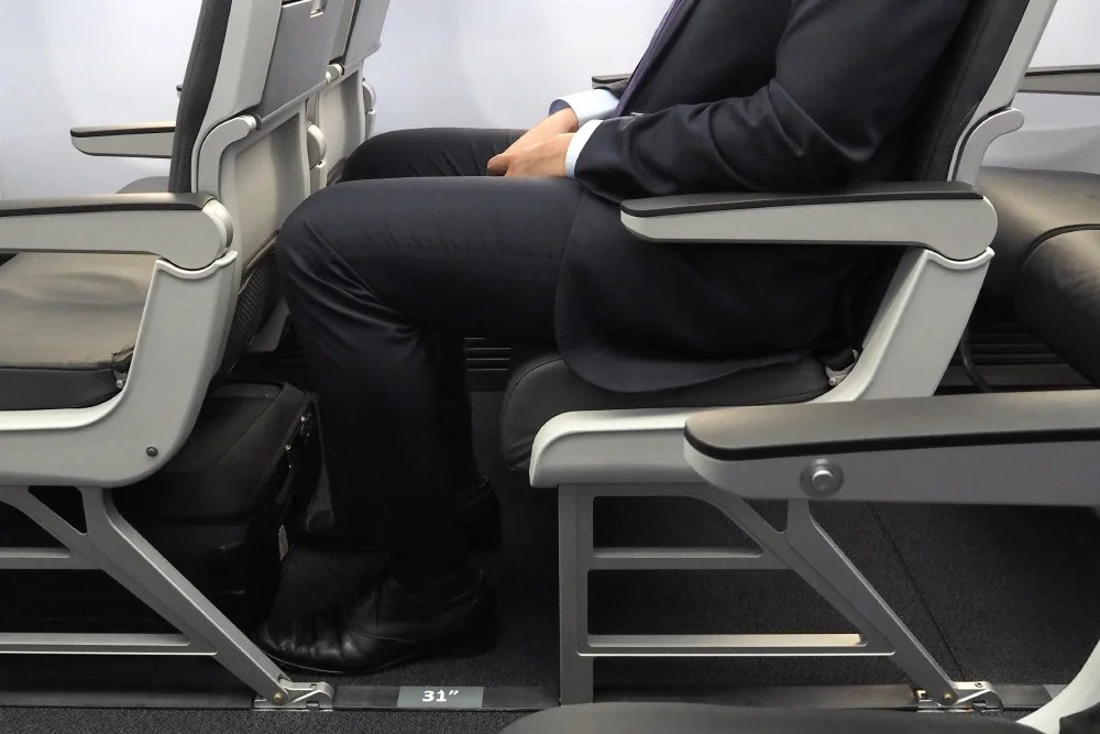 Comparing Economy Seat Pitch From 29 To 34 Inches