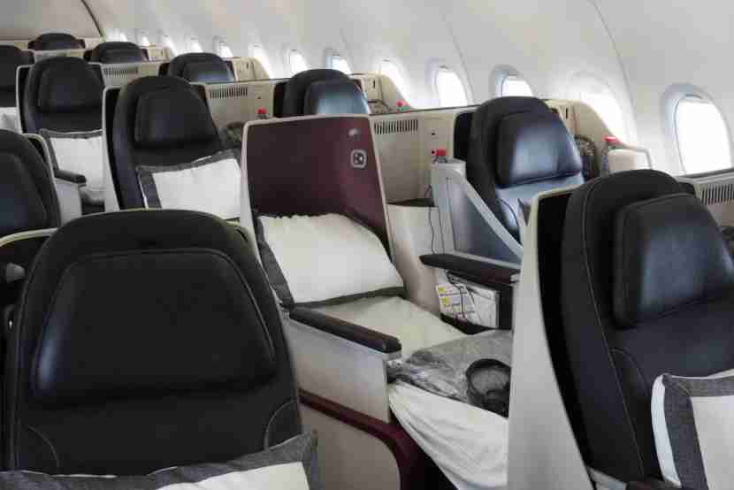 Qatar A319 All Business Class Farnborough