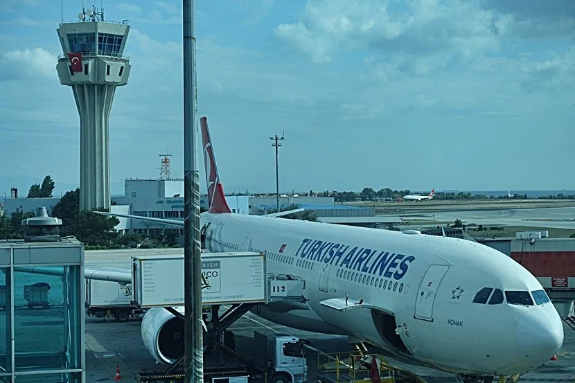 Ready to board our flight to Kuala Lumpur at Istanbul Atatürk Airport (IST).