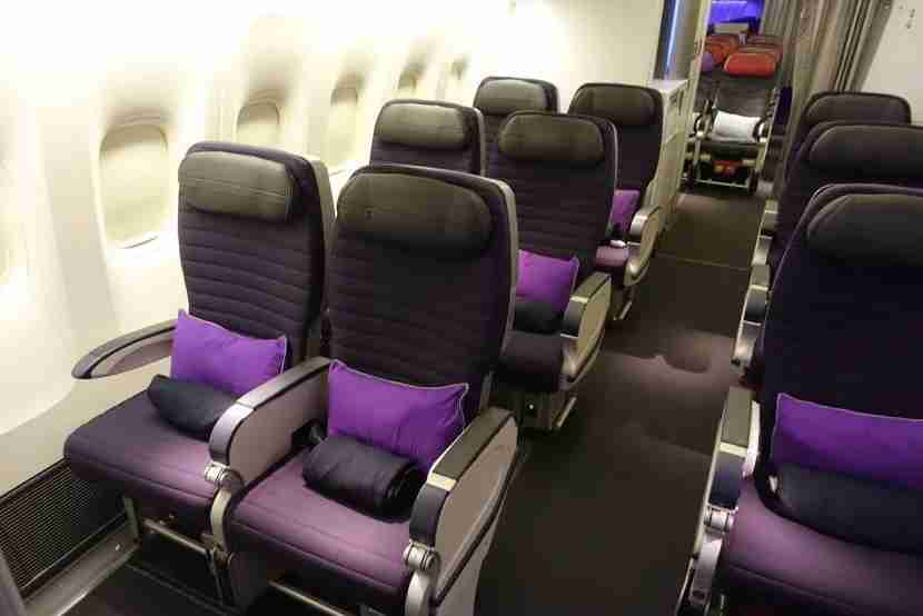 Side seats in premium economy.