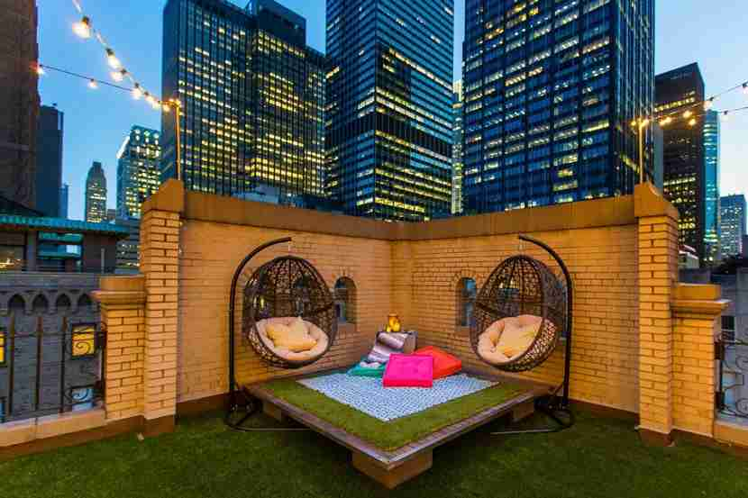 A little luxury on the roof of the W New York. Image courtesy of Dustin Walker, Laurel & Wolf.