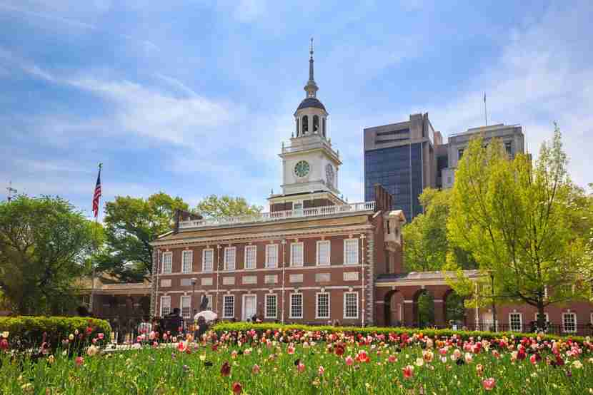 Independence Hall in Philadelphia. Image courtesy of Shutterstock.