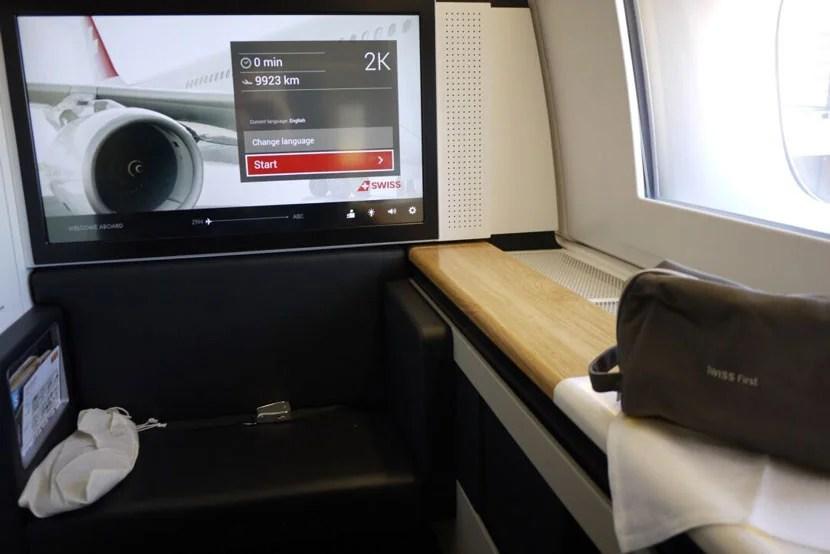 Swiss First Class Seat 2K
