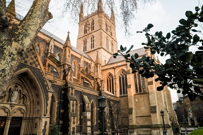 Inside the magnificent Southwark Cathedral, you can visit the gift shop or have scones in the Refectory. Image by Kofi Lee-Berman.