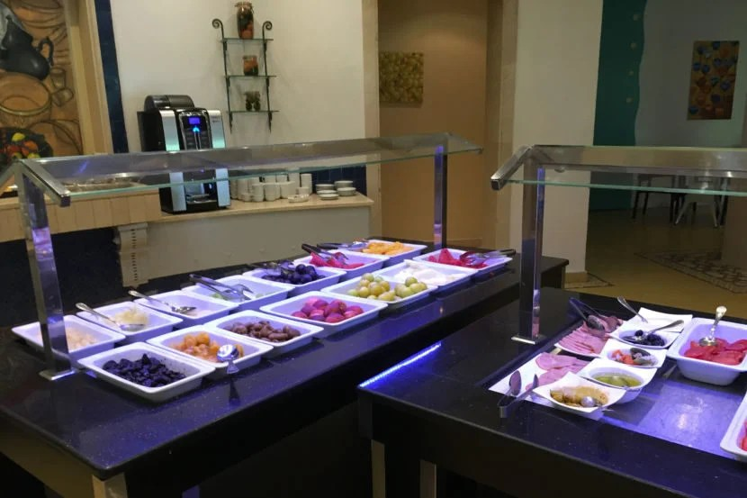 The breakfast spread offered many options each day.