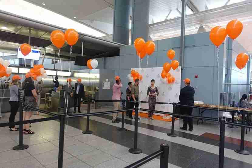 I noticed some bursts of orange in JFK
