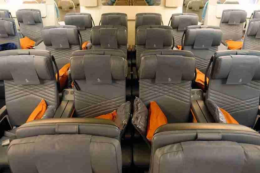 The new premium economy cabin looks very modern.