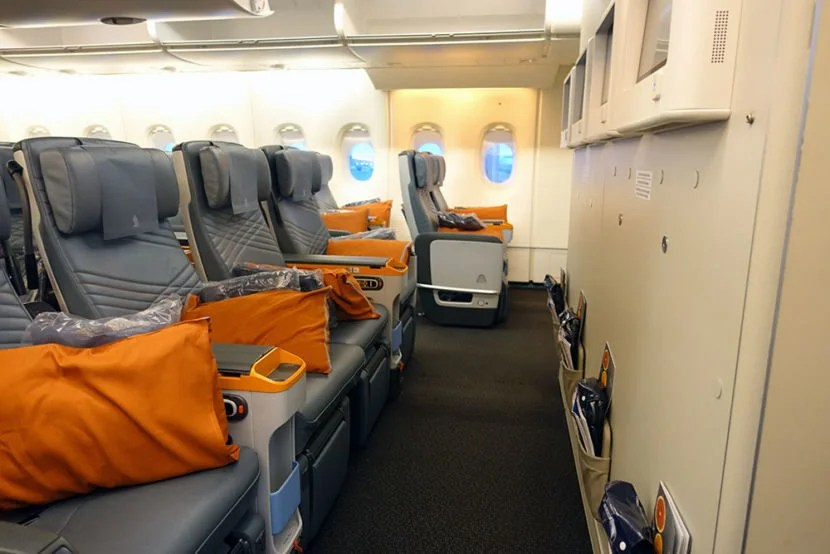 The bulkhead row had more space and the screens were mounted on the wall.
