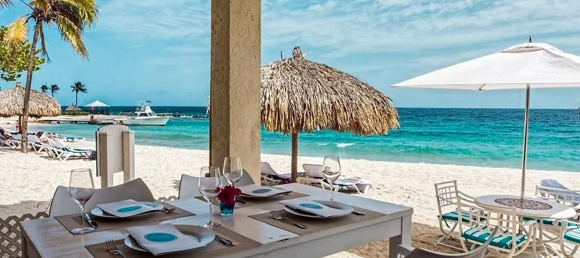 View from the Floris Suite Hotels Moomba Beach Club restaurant. Image courtesy of Floris Suite Hotel.