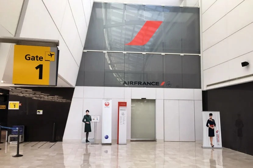 The entrance to the Air France Lounge.