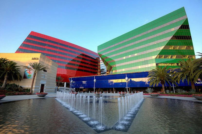 You can't miss the shining colors of the Pacific Design Center on Melrose Ave. Image courtesy of Visit West Hollywood.