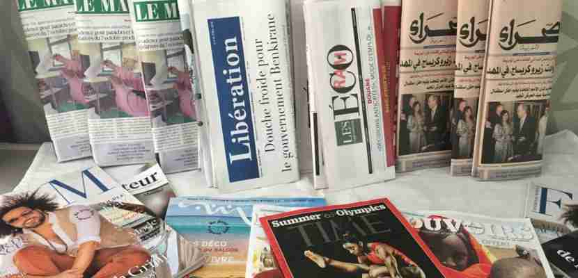 Royal Air Maroc gives passengers plenty of reading material.