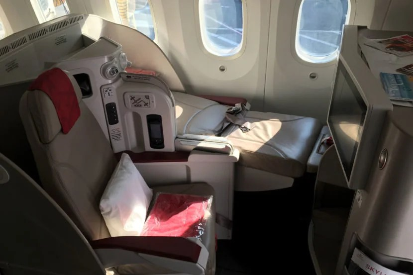 The window seats moved upward when reclined.