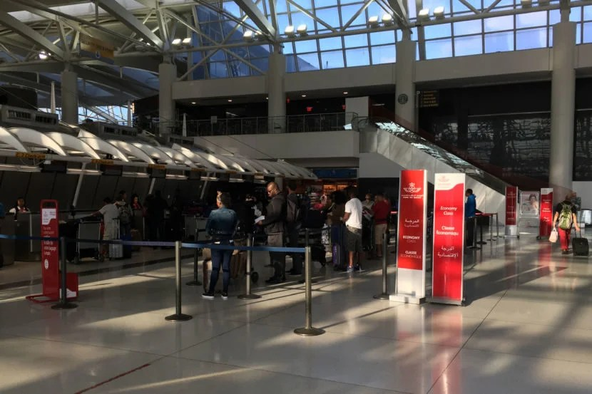 The Check in Counter at JFK Terminal 1.