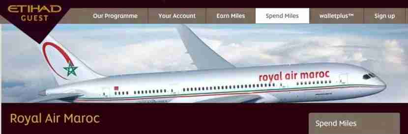 Royal Air Maroc is one of over 20 Etihad partners.