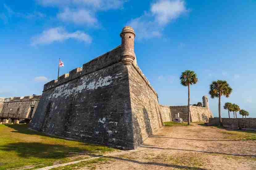 Castillo de San Marcos in St. Augustine, Florida. Image courtesy of Shutterstock.