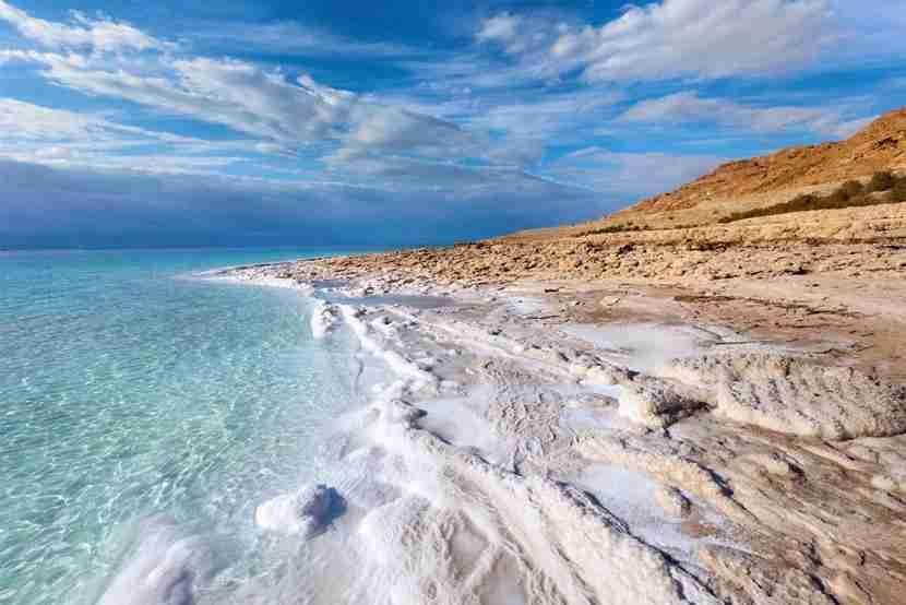 "Bar Yehudi is located along the Dead Sea in Israel just a few miles from Massada. Image courtesy of <a href=""http://www.shutterstock.com/pic-87120142/stock-photo-view-of-dead-sea-coastline.html?src=Xsw25dVvU3j4OwADlEypsQ-1-0"" target=""_blank"">Shutterstock</a>."