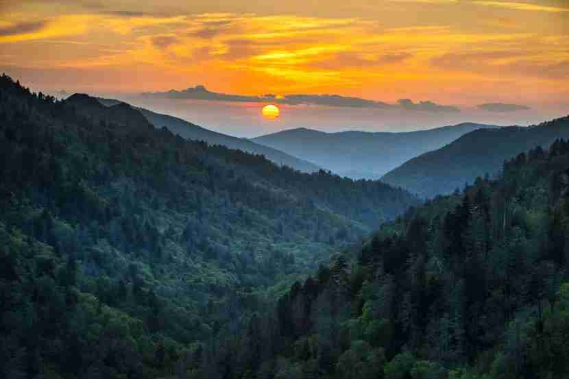 Smoky Mountains National Park. Image courtesy of Shutterstock.