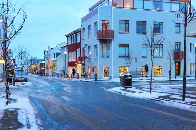 "Navigate the city streets with ease, even in the winter. Image of Skólavörðustígur Street courtesy of <a href=""http://www.shutterstock.com/pic-344962568/stock-photo-skolavordustigur-street-in-the-center-of-reykjavik-at-dusk-in-the-winter-iceland.html?src=7k9WXRaT78IYYTcfGhzR5w-1-40"">Shutterstock</a>."