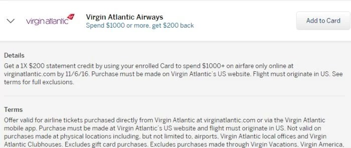 Log into your Amex account to see if you're targeted for this offer.