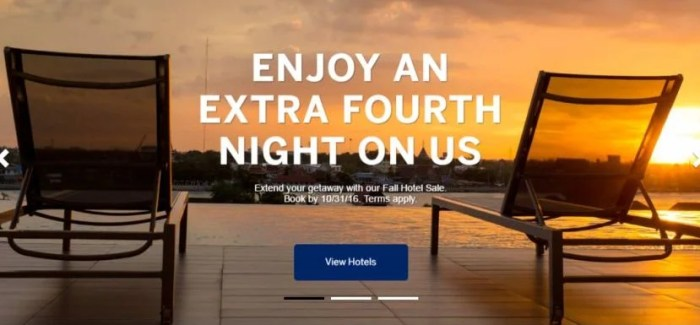 Amex Offers the fourth night free