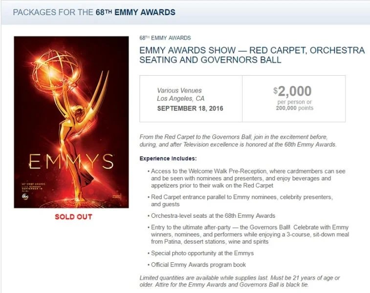 TPG and I attended this package including the Red Carpet, Orchestra level seats and the Governor's Ball.
