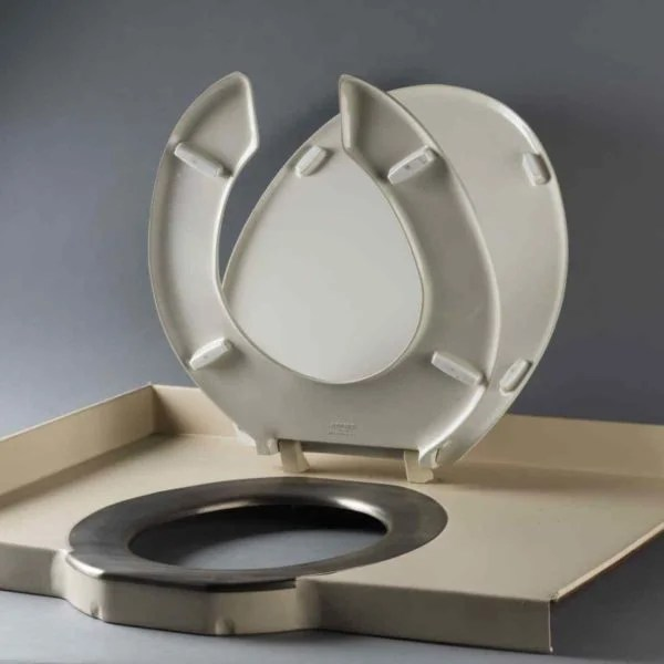 A toilet seat from the Concorde jet is up for auction, which go for $336. Image courtesy of Marc LaBarbe.