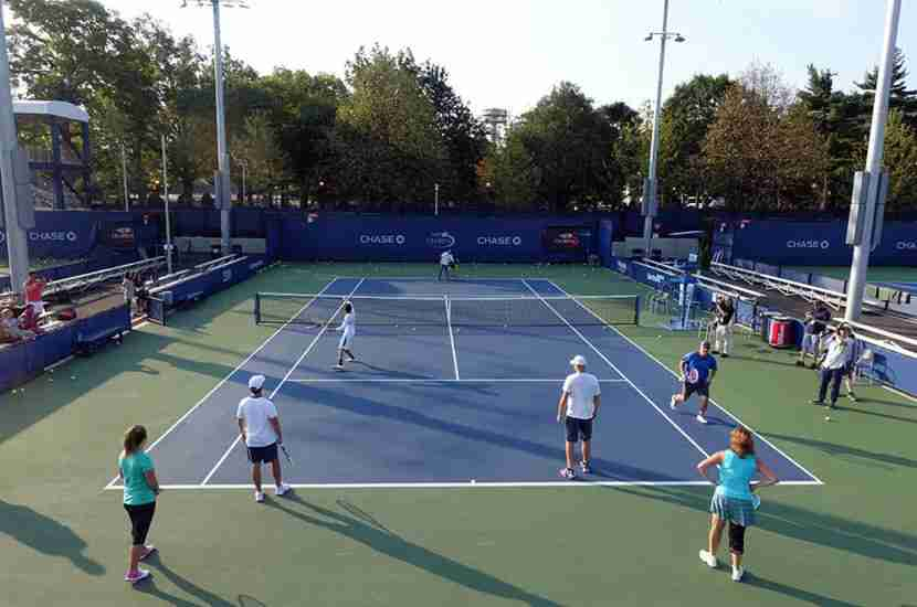 Doing some basic drills alongside Andy Roddick was a pretty surreal experience.