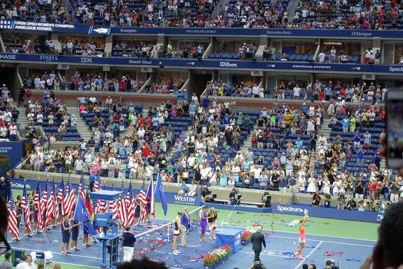 The trophy presentation concluded a great day at the US Open.