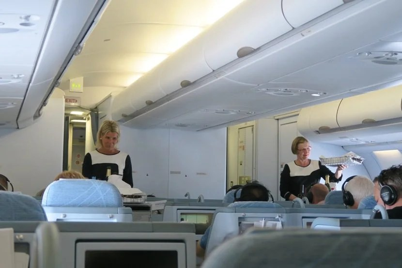 The cabin crew was excellent throughout the flight.