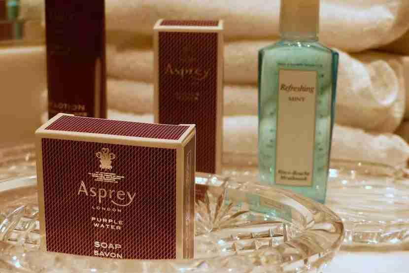 Ritz-Carlton Laguna Niguel Asprey Products in the Bathroom