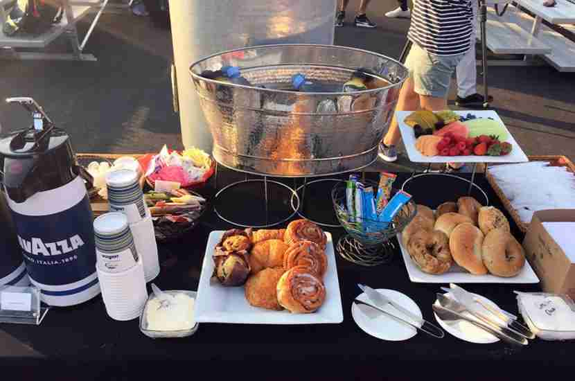 There was a nice selection of breakfast foods for participants and their guests.