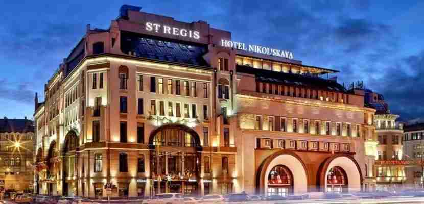 The beautiful exterior of the St. Regis Moscow Nikolskaya