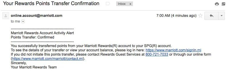 How to Link Your Marriott/SPG Accounts and Transfer Points