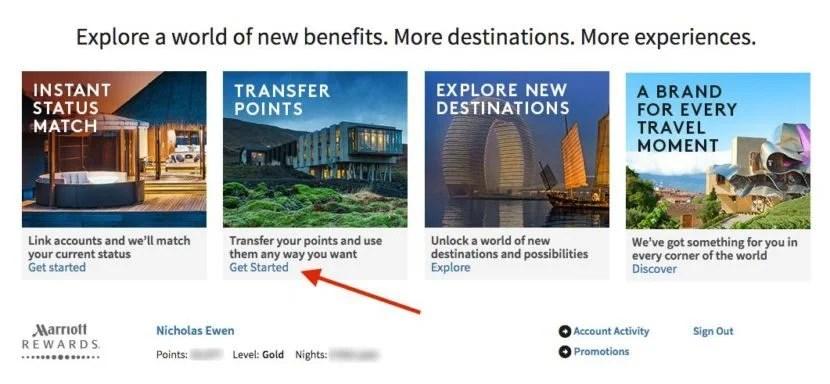 Marriott to SPG transfer link