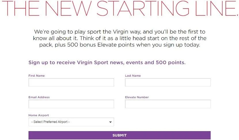 Just five pieces of information stand between you and 500 Virgin points.