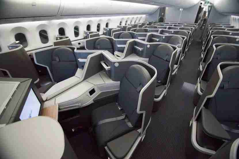 The 1-2-1 business class cabin on AA