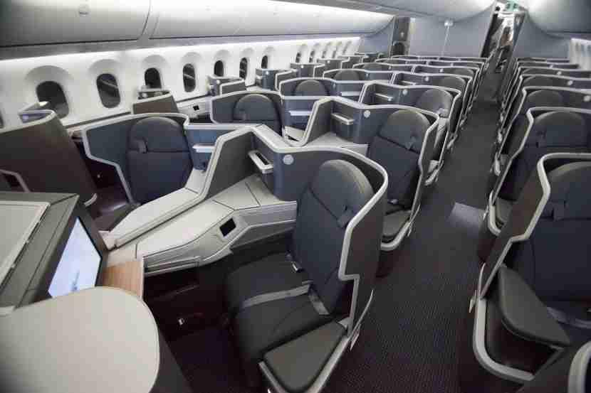 The 1-2-1 premium economy cabin on AA