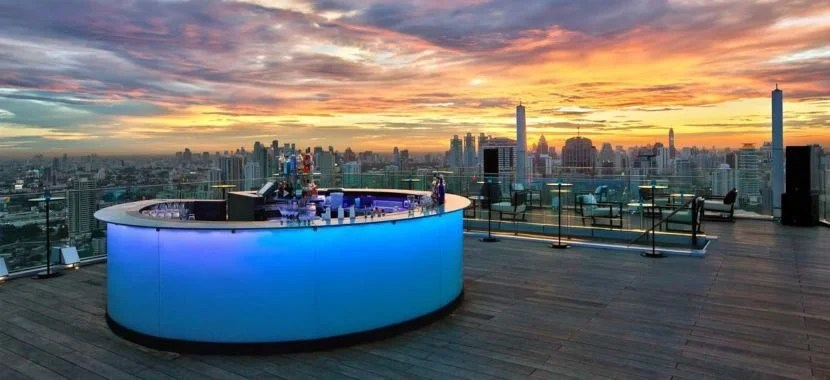 Use your free nights to check out the Octave Rooftop Lounge & Bar at the Bangkok Marriott Hotel Sukhumvit. Photo courtesy of Marriott.