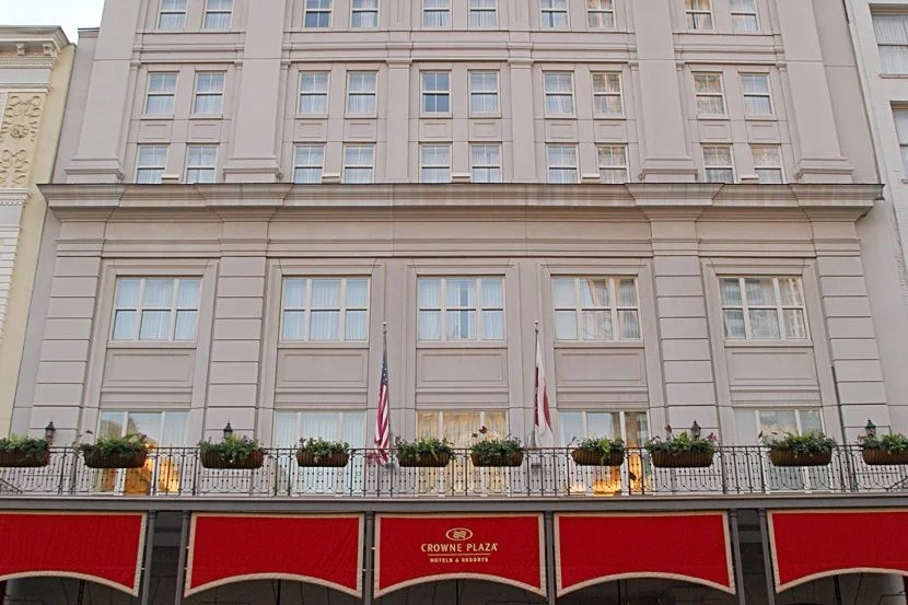 With 200,000 IHG Rewards points, you could book a room in the center of all the Mardi Gras festivities at the Crowne Plaza New Orleans French Quarter. Image courtesy of the hotel.