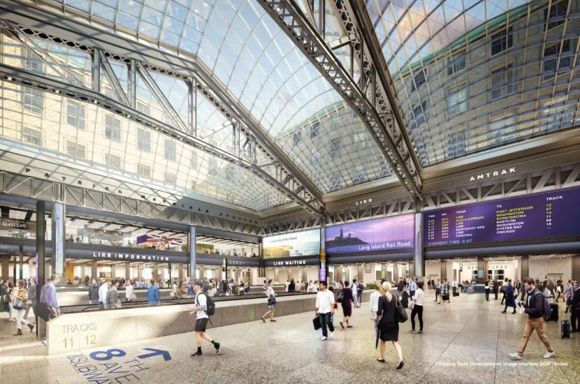 The new Moynihan Train Hall is larger than Grand Central.