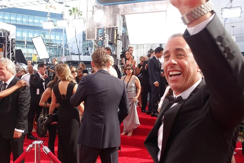 You just never know who will walk right past you on the Red Carpet.