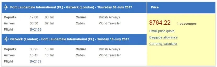 ba adds nonstop between fort lauderdale and london
