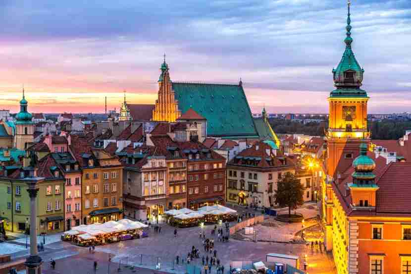 Pay a visit to the Old Town in Warsaw, Poland. (Photo by querbeet / Getty Images)