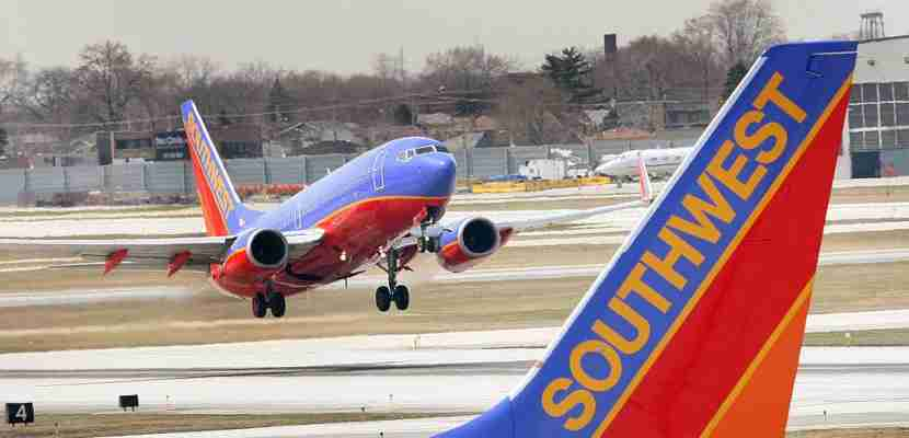 A Southwest Airlines jet Midway Airport Chicago, Illinois