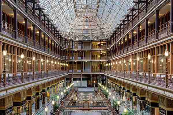 The Hyatt Regency Cleveland at The Arcade, formerly one of the first indoor shopping malls in the US.