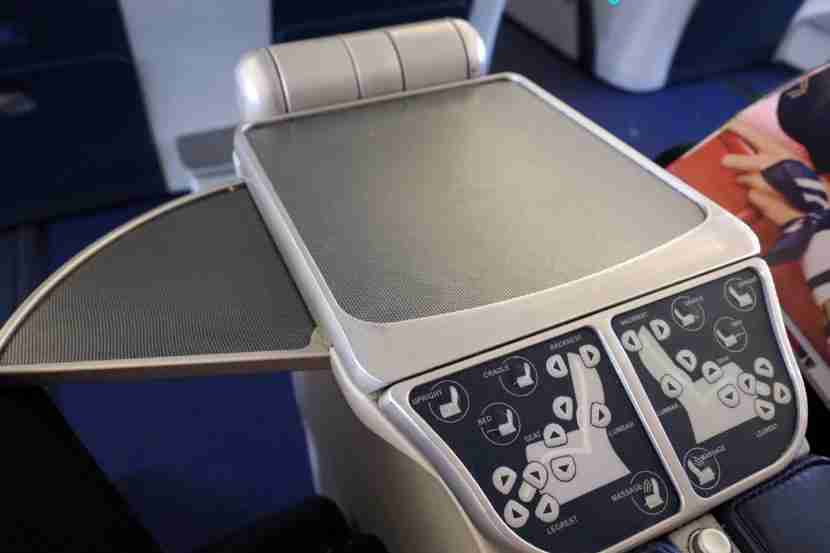 The armrest seat functions were accessible and easy to use.