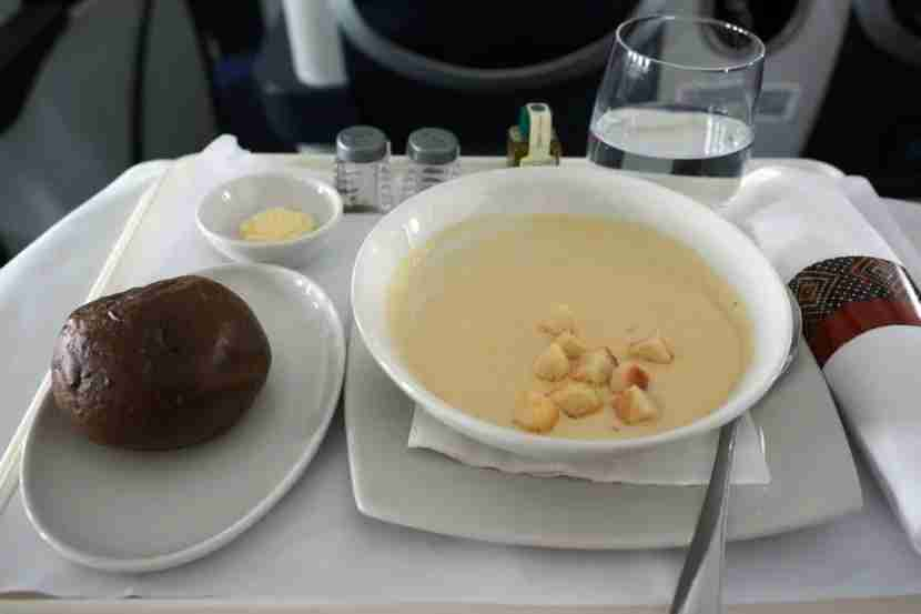 The mushroom soup was a nice appetizer.