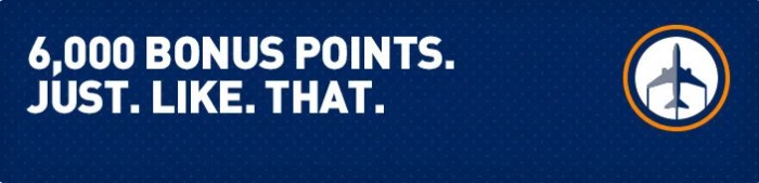 Earn up to 6,000 bonus points for flying LGA to BOS.