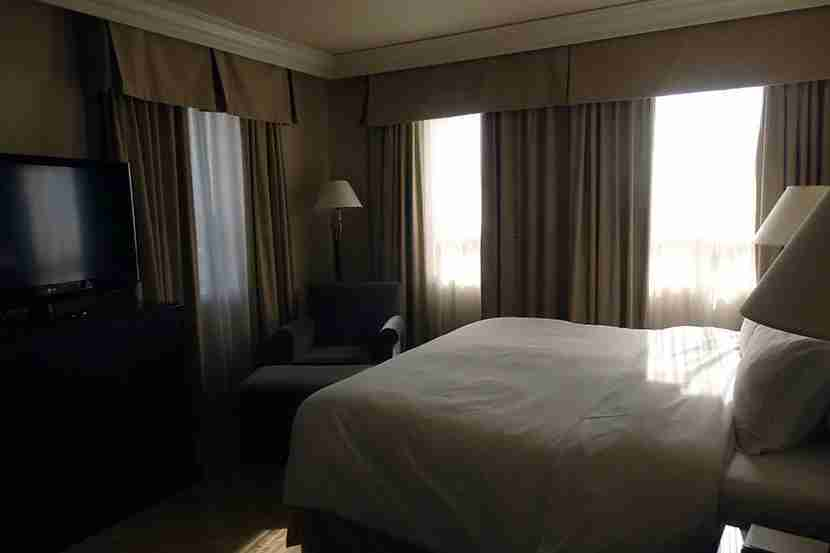 I love Park Hyatt beds and enjoyed that cute reading nook to the left.